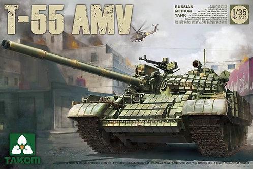 Российский танк Т-55 АМВ - Takom 2042 1:35