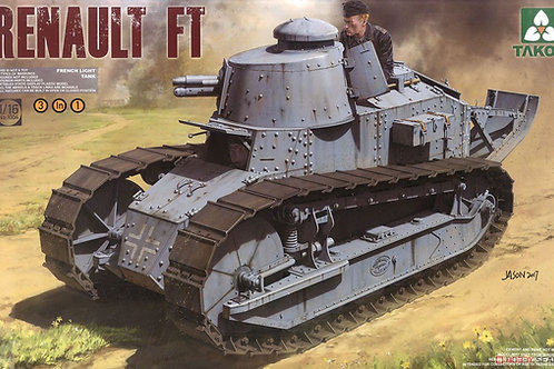 Renault FT-17 (3 в 1) - Takom 1004 - 1:16
