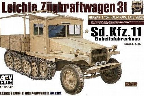 Тягач Sd.Kfz.11 Einheitsfahrerhaus - AFV Club AF35047 1:35 - под заказ