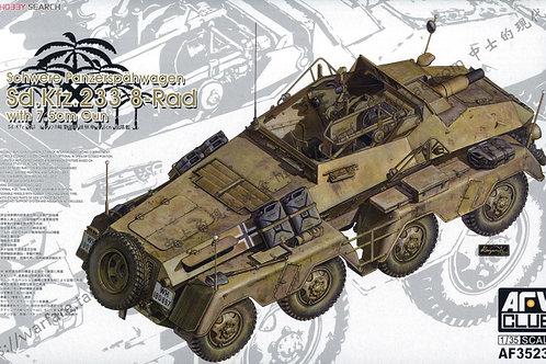 Бронеавтомобиль Sd.Kfz.233 8-Rad w/7.5cm Gun - AFV Club AF35233 1/35