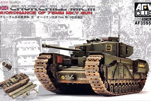 Танк Churchill Mk.III с пушкой QF 75mm Mk.V - AFV Club AF35S54 1:35 - под заказ