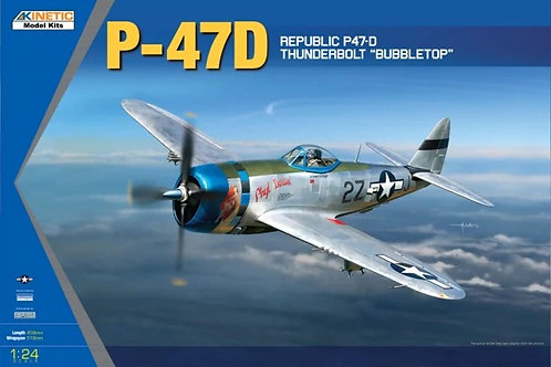 P-47D Thunderbolt Bubble Top - Kinetic K3207 - 1:24