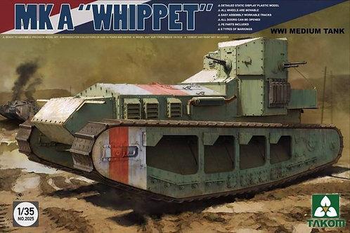 (под заказ) Британский танк Уиппет Mk A Whippet - Takom 2025 1/35