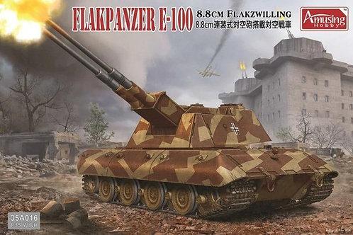 (под заказ) 8.8cm Flakzwilling Flakpanzer E-100 - Amusing Hobby 35A016 1:35
