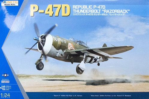"""Republic P-47D Thunderbolt """"Razorback"""" - Kinetic K3208 - 1:24"""