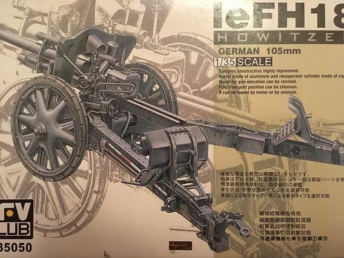 (под заказ) Немецкая 10,5-см гаубица leFH18 - AFV Club AF35050 1:35