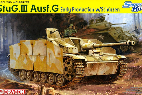 (под заказ) Немецкая САУ StuG.III Ausf.G ранний с экранами - Dragon 6365 1:35