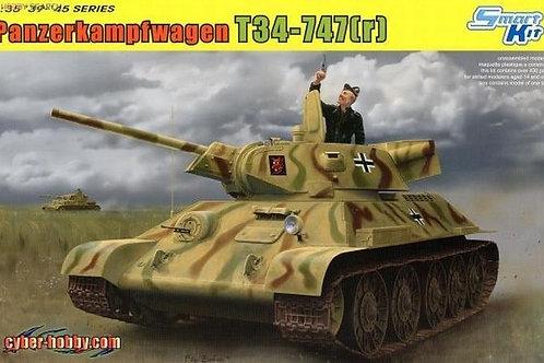Танк T34-747(r), трофейный Т-34/76 СТЗ - Dragon 6449 1:35