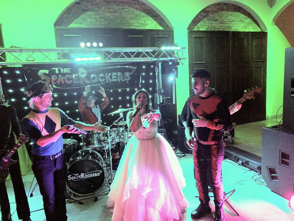 Houston Wedding band, The Space Rockers, at The Bell Tower on 34th