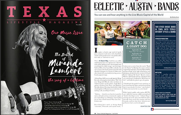Stargazer Productions Texas Lifestyle article