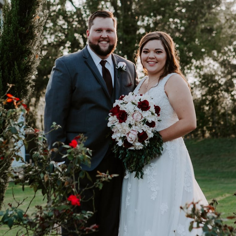 These Houston newlyweds hired The After Party band for their wedding at Old Dobbin Station