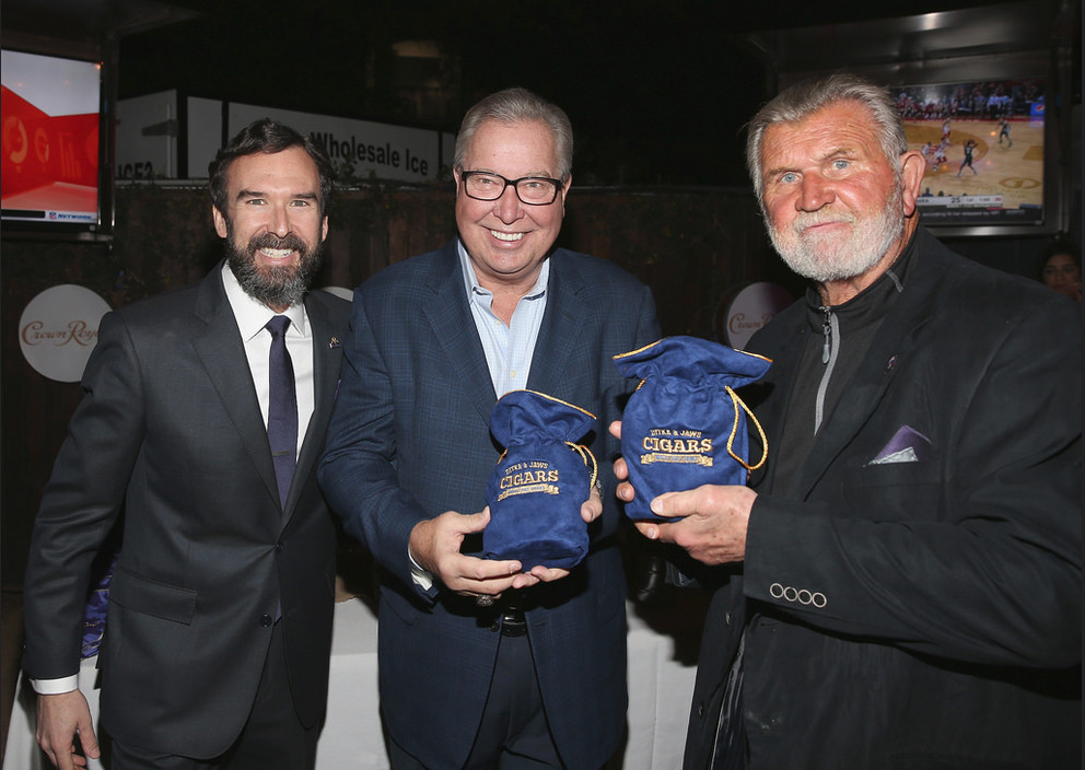 Cigars with the Stars event in Houston with Mike Ditka