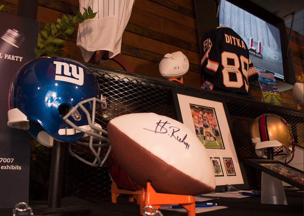 NFL auctioned items