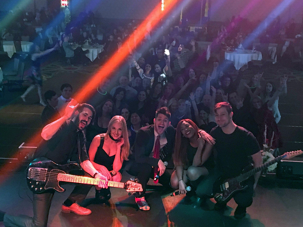 Corporate event party band, Satellite, rocks the CITGO holiday party in Lake Charles, Louisiana