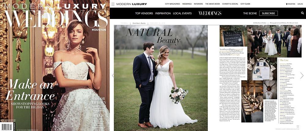 modern luxury weddings magazine and Stargazer Productions