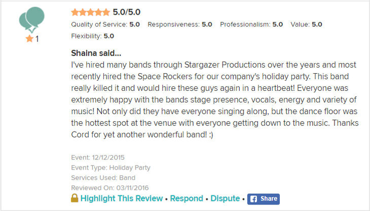 Stargazer Productions review