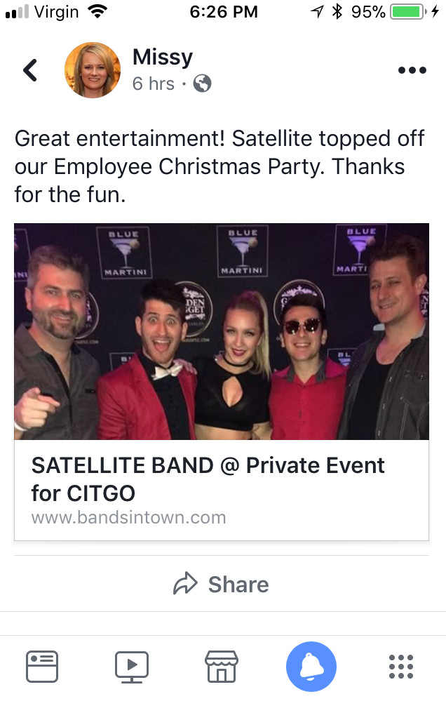 Golden Nugget Casino band, Satellite, is perfect for Lake Charles parties and events