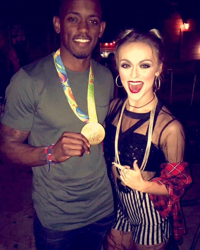 Brie- Olympic Gold Winner Jeff Henderson Long Jump