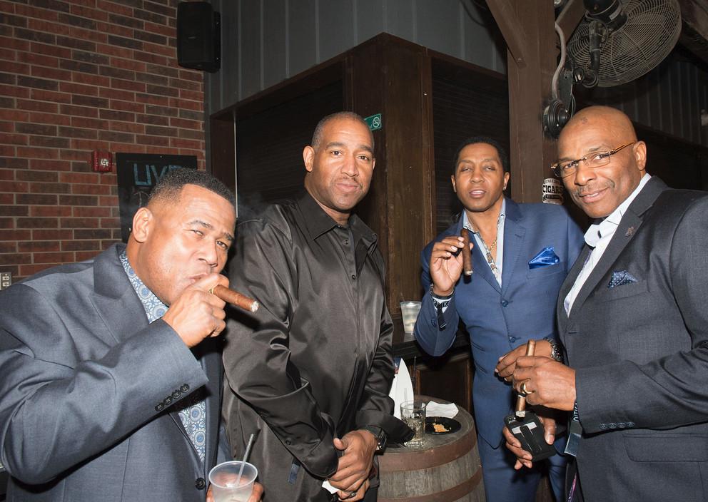 NFL greats smoking cigars