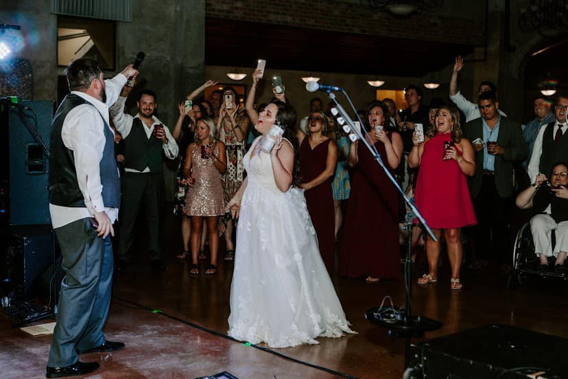 """Groom sings to his bride with Houston Wedding Band, """"The After Party"""""""