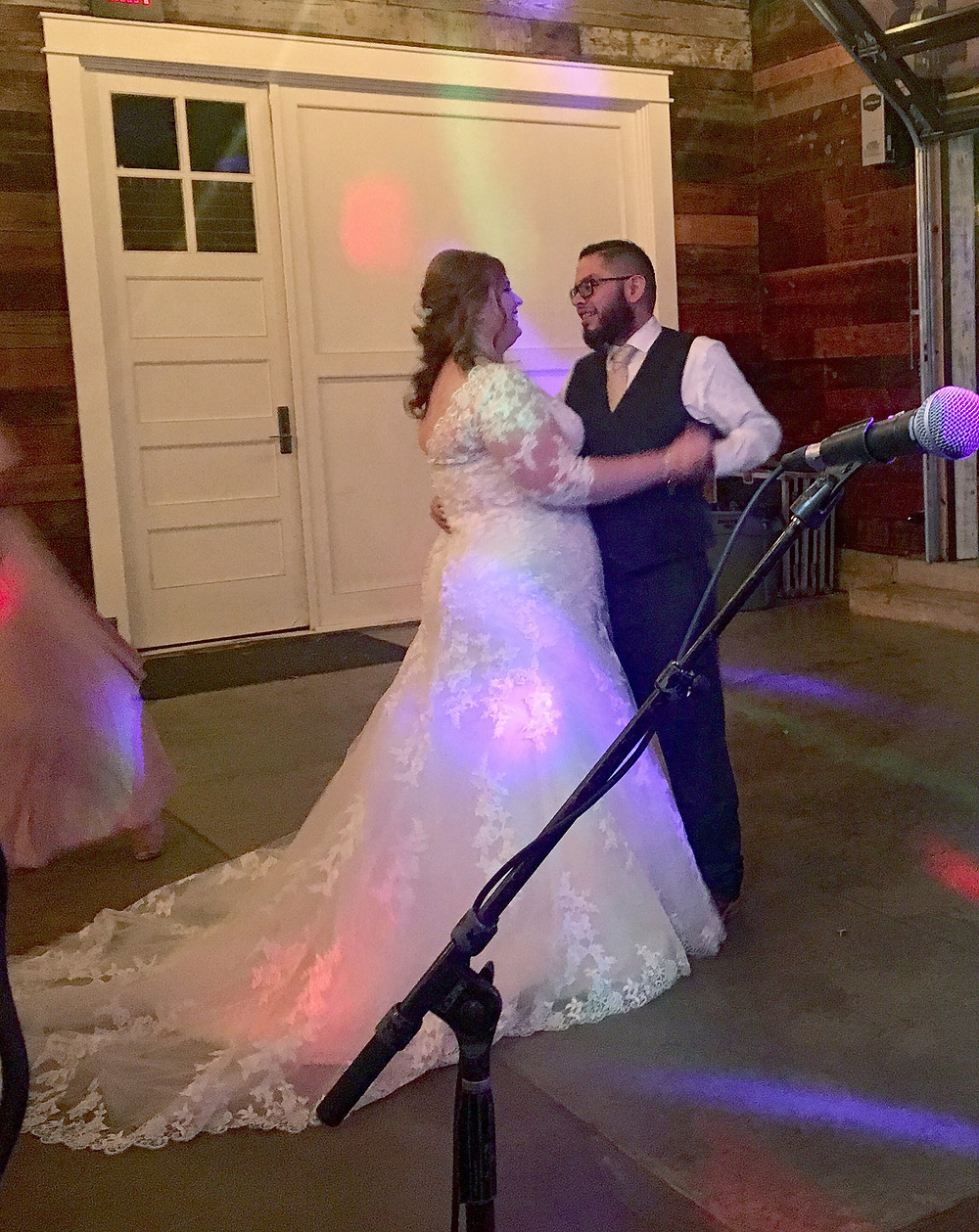 Georgetown, TX Wedding couple dancing from a Stargazer Party Band