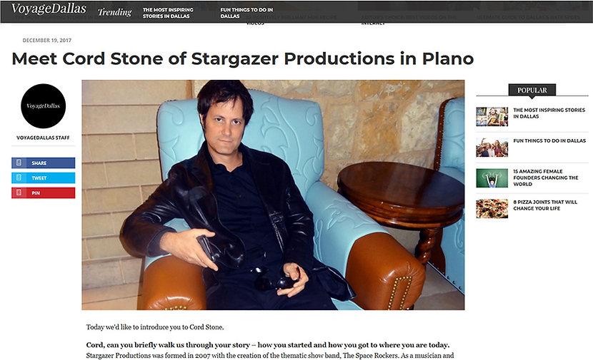 Cord Stone Voyage Magazine article