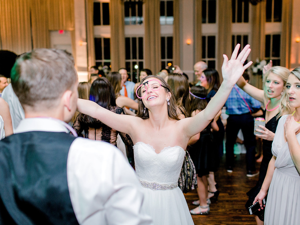Wedding couple dancing to Dallas party band, Electric Circus