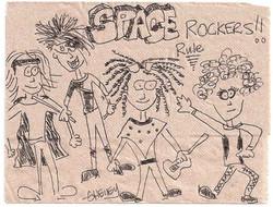 The Space Rockers - Napkin Cartoon