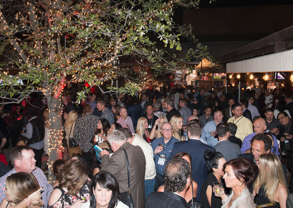 Packed crowd for Ditka's Cigars with the Stars party