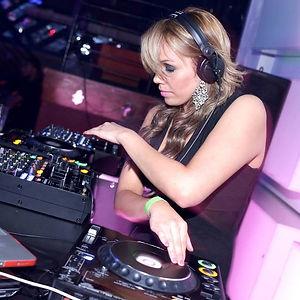 DJ Genafire spinning records