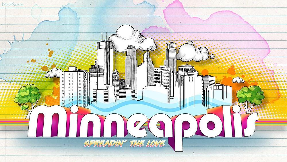 Illustration of Minneapolis Skyline