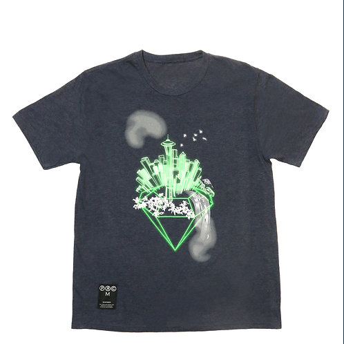 Emerald City Tee in Heather Blue
