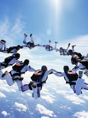 Skydiving over Jbay