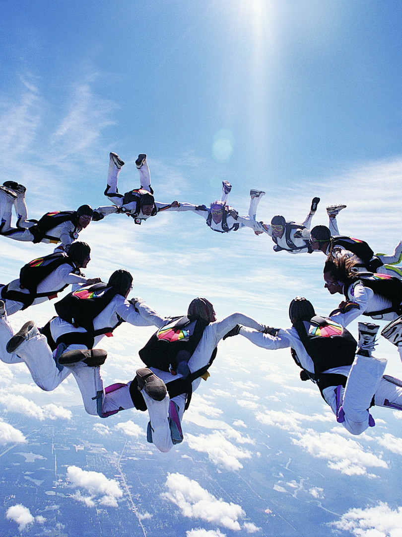 Skydiving over Jbay
