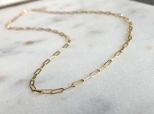 10k Yellow Gold Paperclip Chain