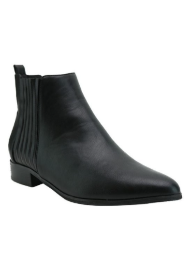 Classic Vegan Leather Ankle Bootie