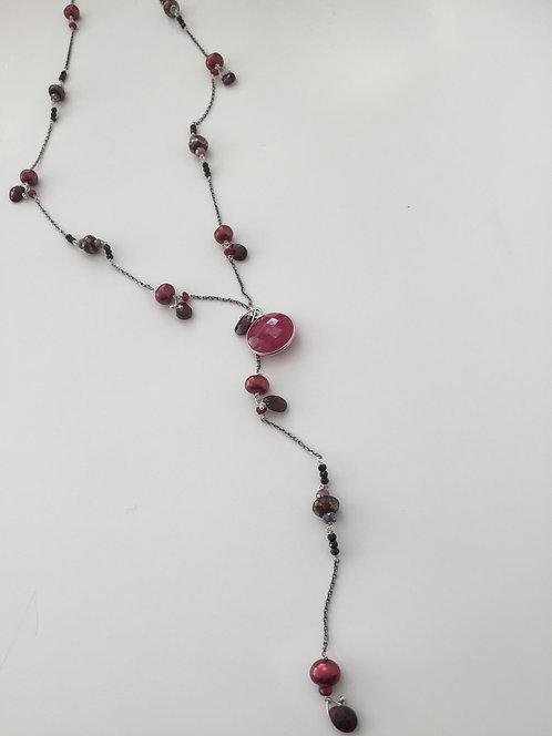 Multi Beaded 'Y' Necklace