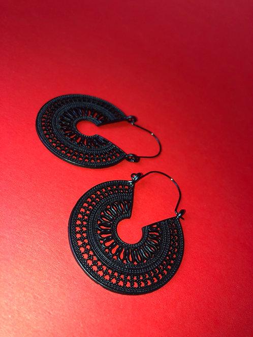 Black Boho Goddess Earrings