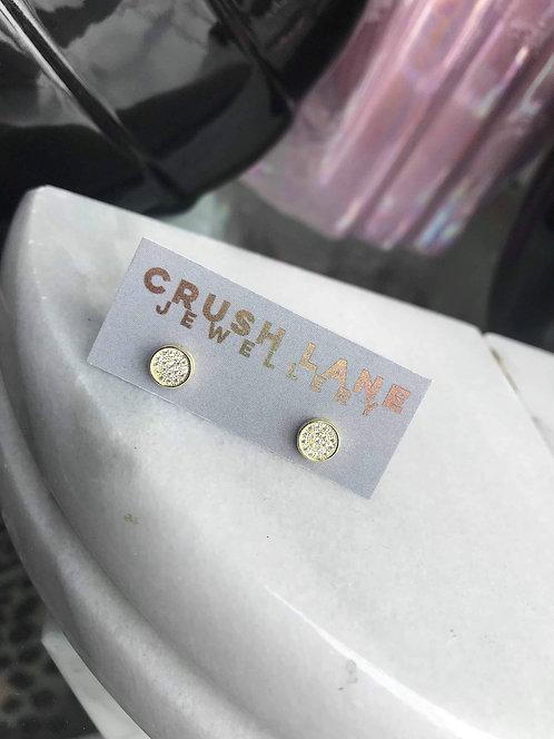 Round Button Studs w/ CZs
