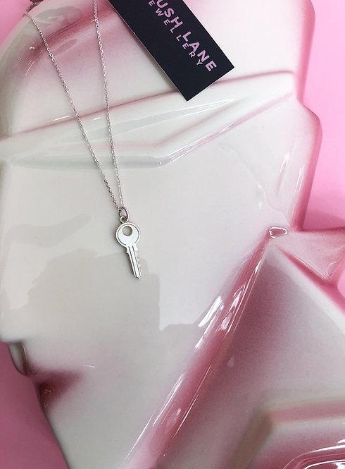 Silver Mini Key Necklace