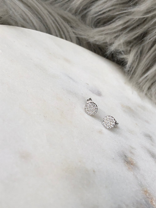 Round Pave Studs with CZ's
