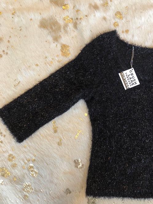 Black Sparkly Sweater Sz S