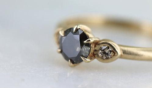 14k Yellow Gold Accented Smokey Champagne Diamond Ring