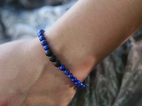 Lapis Lazuli Diffuser Bracelet