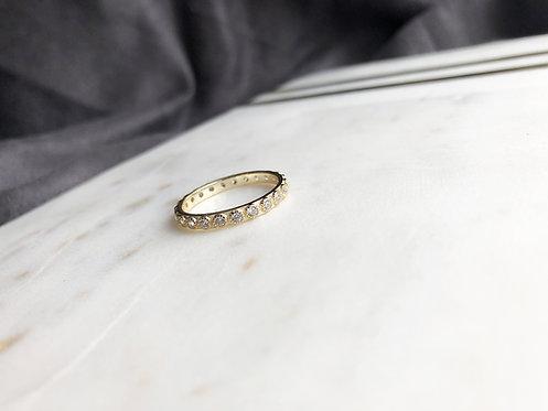 Gold Boho Eternity Ring