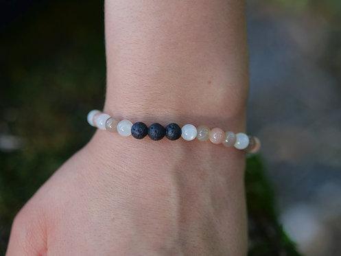 Multi Moonstone Diffuser Bracelet