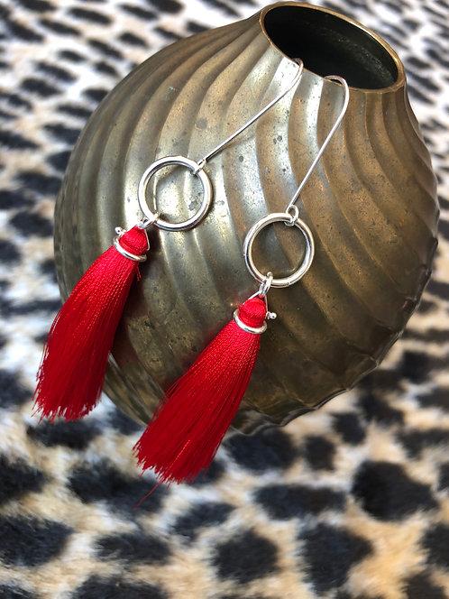Tassel Earrings on Jumbo Ring
