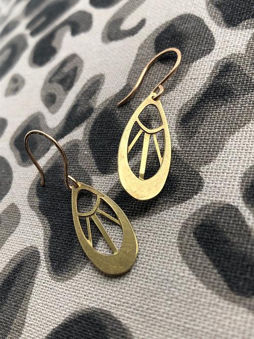 Decorative Teardrop Dangle Earrings