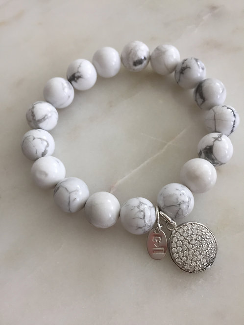 Beaded Expandable Bracelet with Charms
