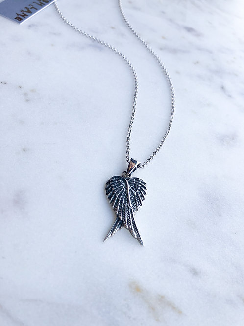 Double Angel Wing Pendant with Chain